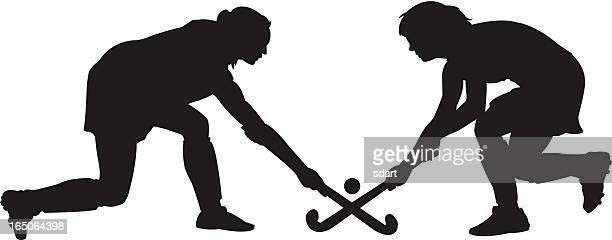 ilustraciones, imágenes clip art, dibujos animados e iconos de stock de campo de hockey - hockey sobre hierba
