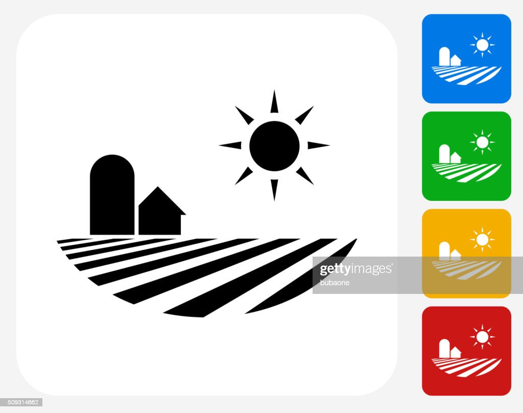Fields Icon Flat Graphic Design