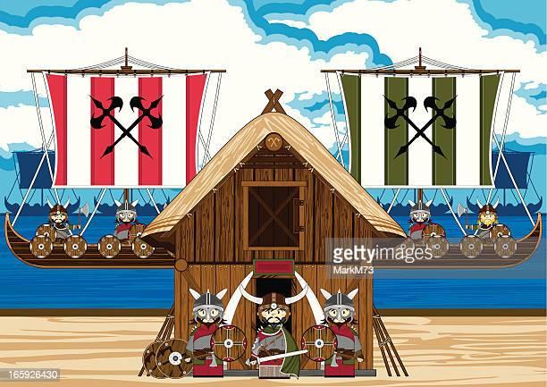 Fierce Viking Warriors Scene