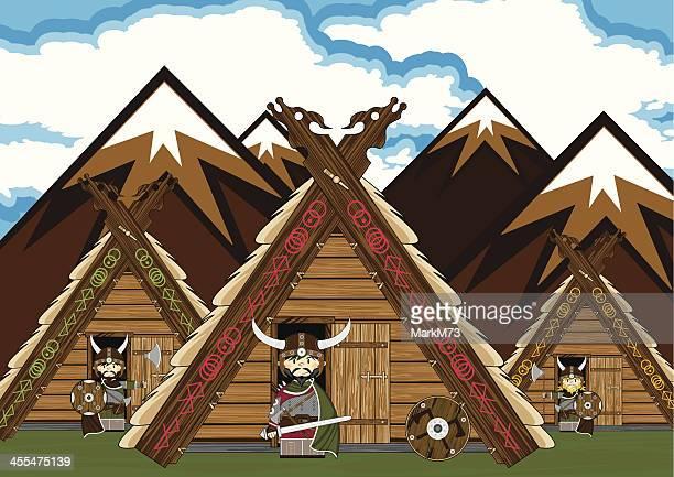 Fierce Viking Warriors Village Scene