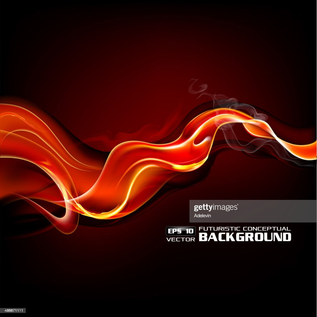 Fiery сoncept wave : stock illustration