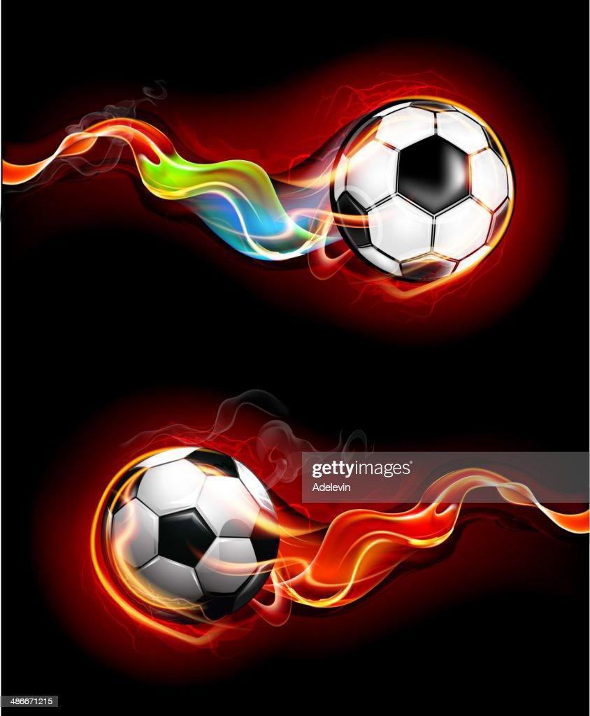 Fiery soccer balls