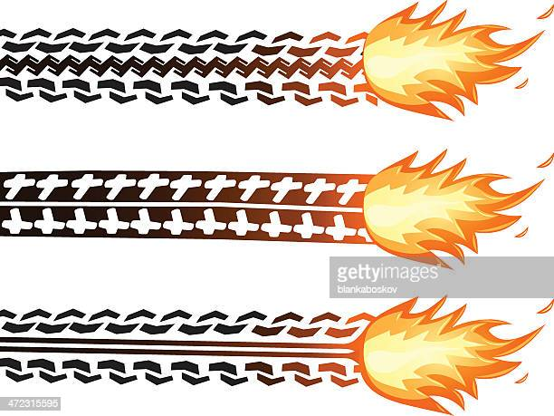 fiery trail - rubber stock illustrations, clip art, cartoons, & icons