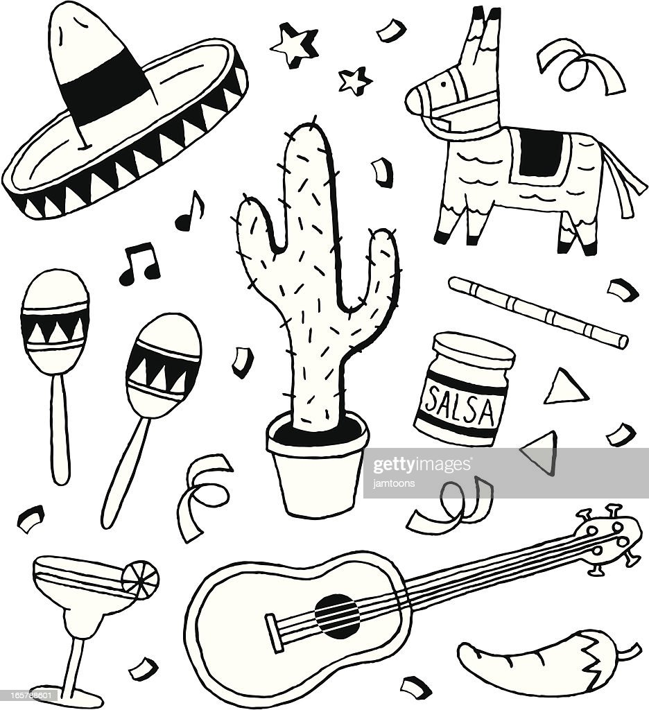 Fiesta Doodles : Stock Illustration