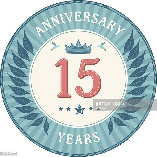 Fifteen Years Anniversary Badge