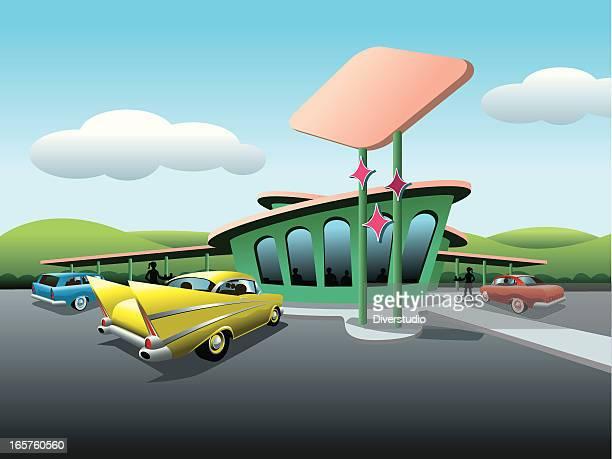 Fifties Era Drive-In Diner
