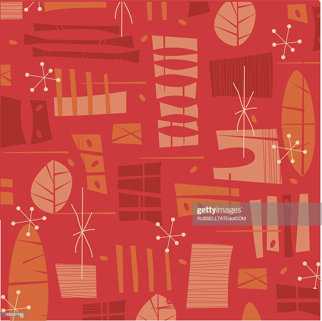 Fifties Retro Red pattern