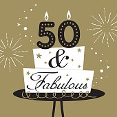 fifty and fabulous cake