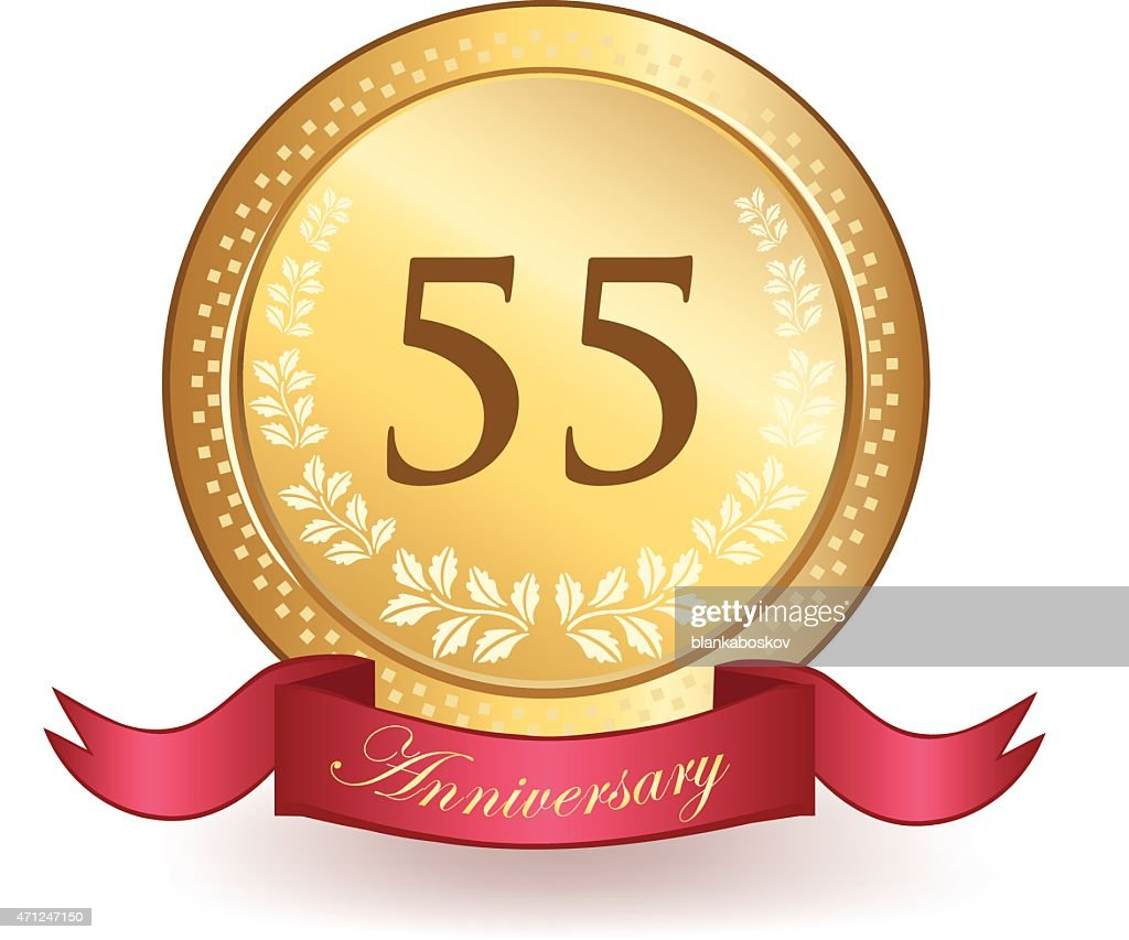 Fifty Fifth Anniversary : stock illustration