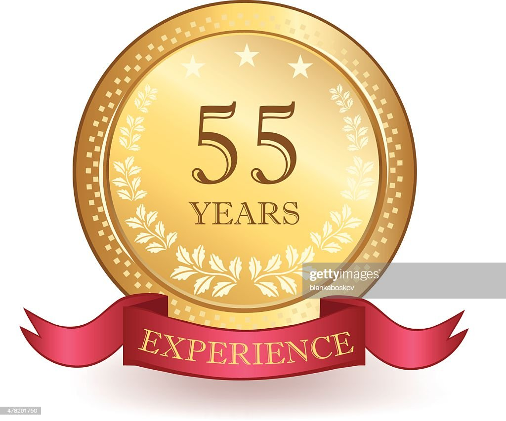 Fifty Five Years Experience Banner : stock illustration