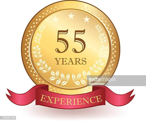 Fifty Five Years Experience Banner