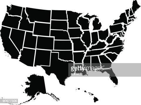fifty individual states vector art   thinkstock