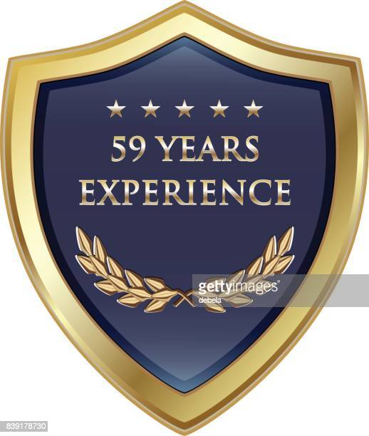Fifty Nine Years Experience Gold Shield