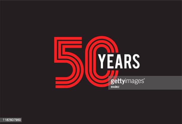ilustrações, clipart, desenhos animados e ícones de projeto do aniversário de cinquenta anos - aniversário de 50 anos data especial