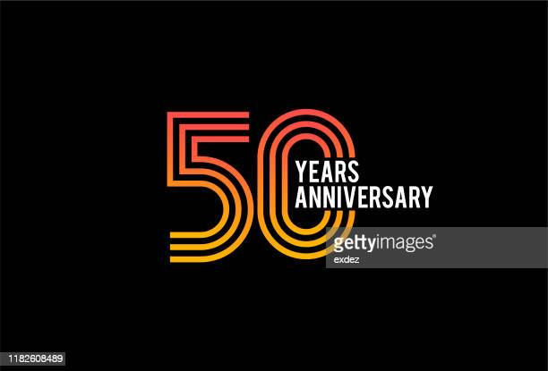 fifty year anniversary design - anniversary stock illustrations