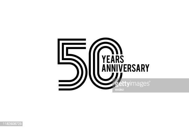 stockillustraties, clipart, cartoons en iconen met 50 jarig jubileumontwerp - 50 jarig jubileum