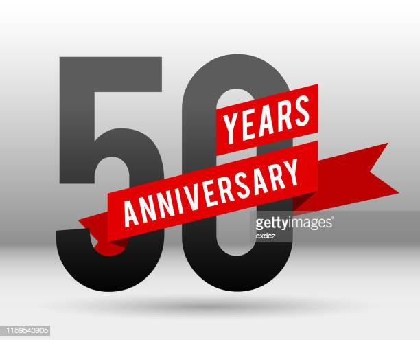 ilustrações, clipart, desenhos animados e ícones de 50 anos de aniversário - aniversário de 50 anos data especial