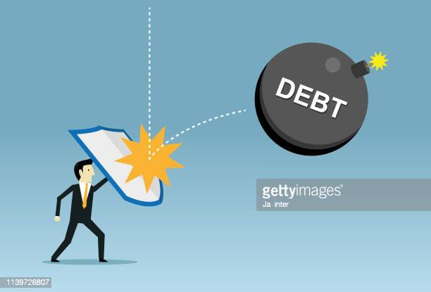 fight debt - disaster relief stock illustrations, clip art, cartoons, & icons