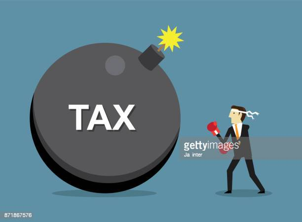 fight tax - relief emotion stock illustrations, clip art, cartoons, & icons