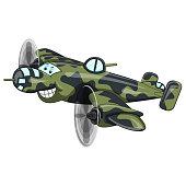 Fighter jet - plane funny cartoon
