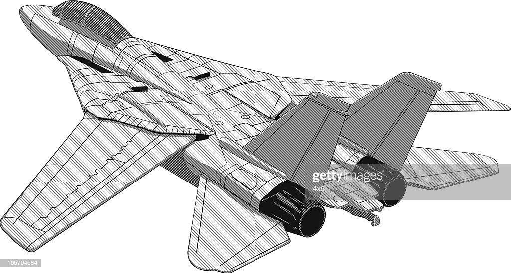 F16 fighter jet plane illustration