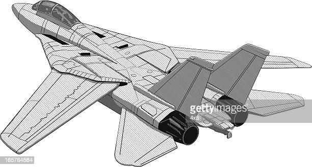 f16 fighter jet plane illustration - falcons stock illustrations, clip art, cartoons, & icons