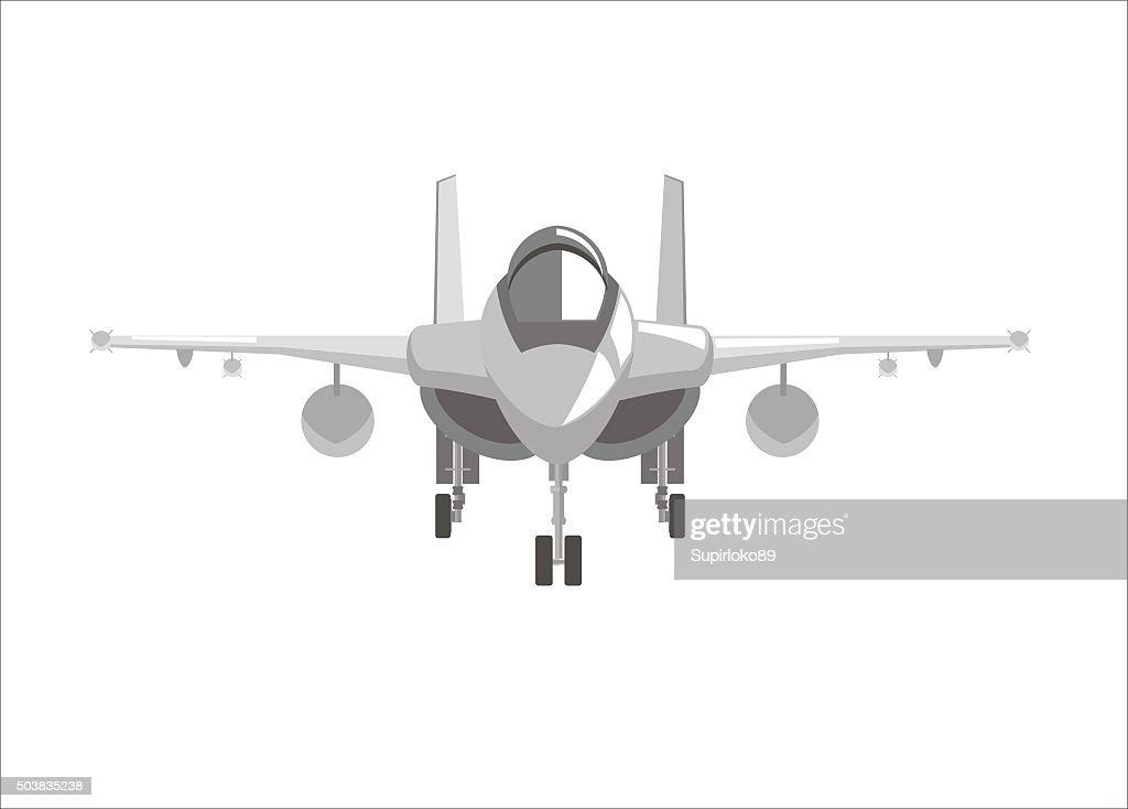 fighter jet plane simple illustration