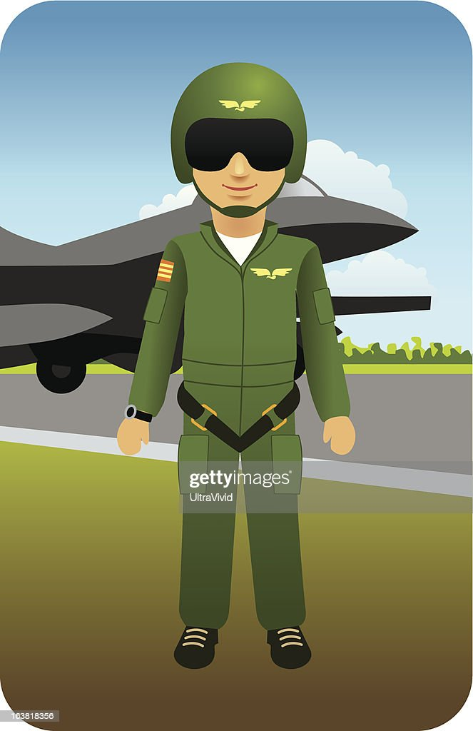 Fighter Pilot Ready to Fly