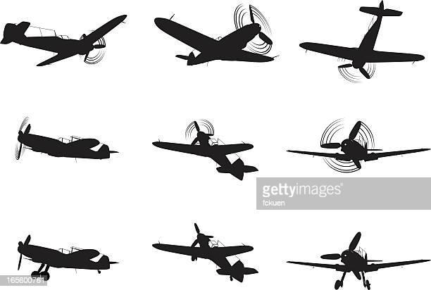 Avião de Combate silhuetas