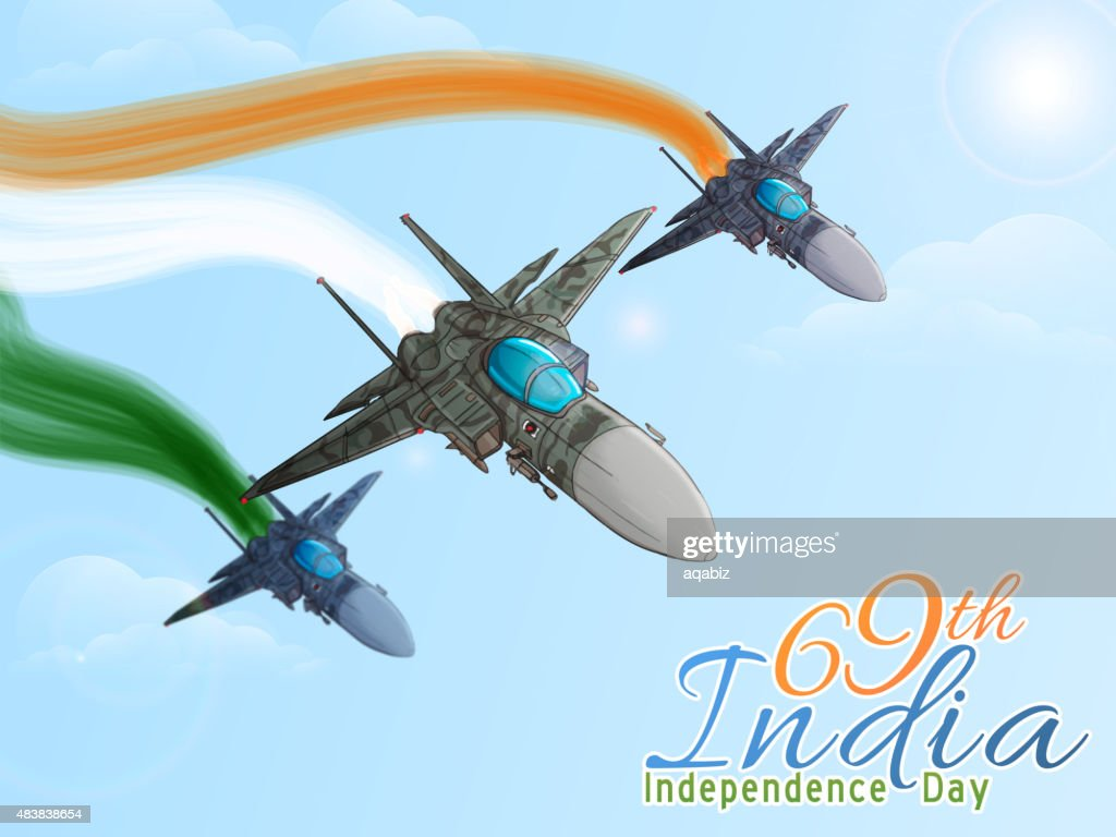 Fighter planes for Indian Independence Day.