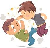 fighting boys