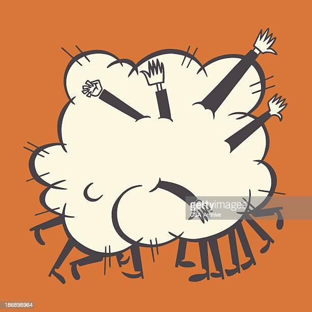 Fighting Personen in der Cloud