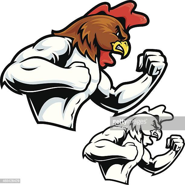 Fighting Rooster Mascot