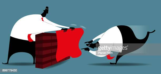 fighting the competition - bullfight stock illustrations, clip art, cartoons, & icons