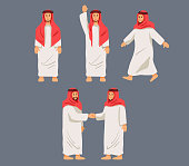 Figurative Character Arabian Men
