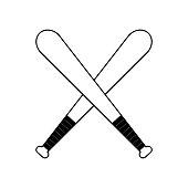 figure baseball bats to play icon