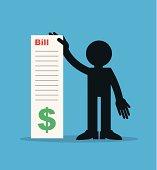 Figure Holding Large Bill