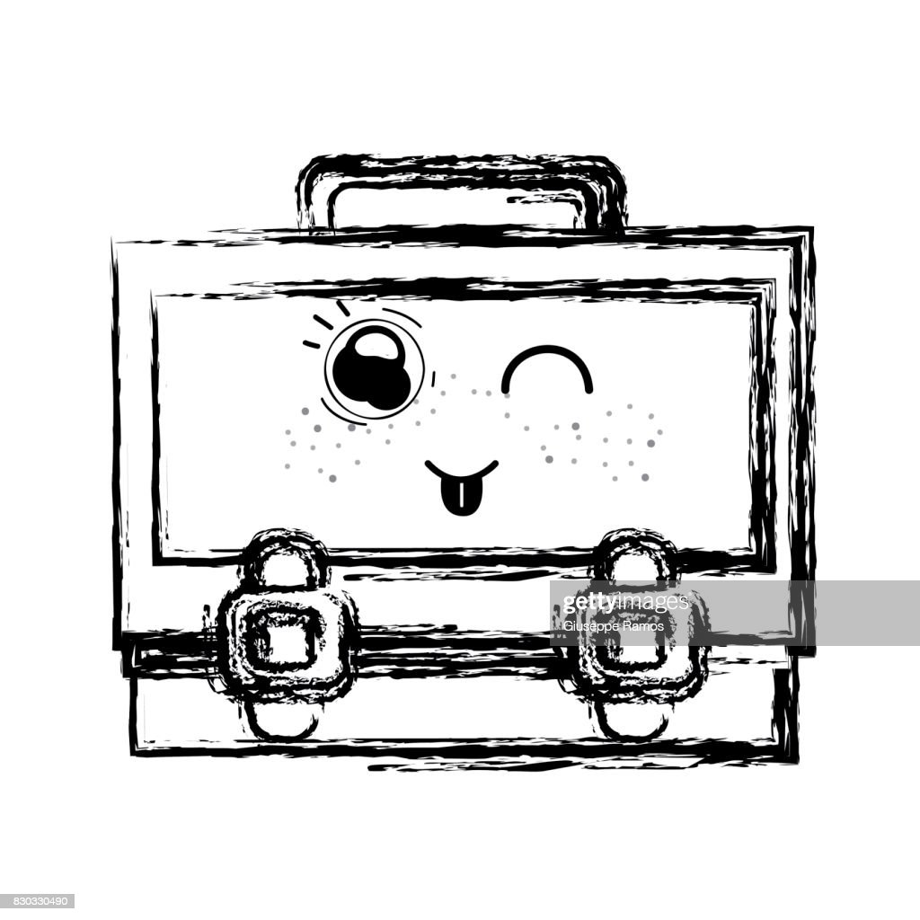 figure kawaii cute funny suitcase design