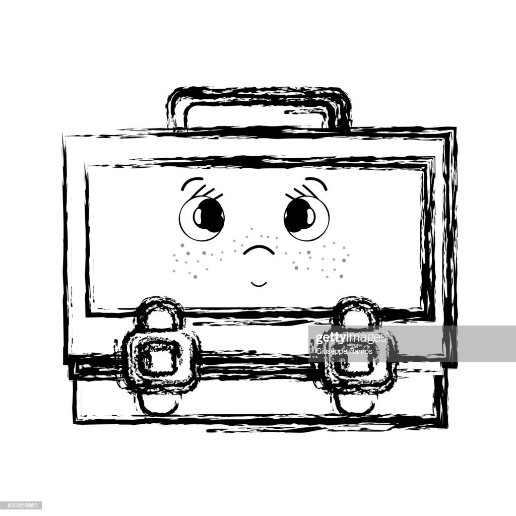 figure kawaii cute surprised suitcase design