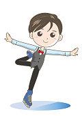 Figure skating boy image - cute pose