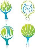 Figure tree icons