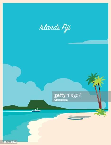 fiji - fiji islands - fiji stock illustrations