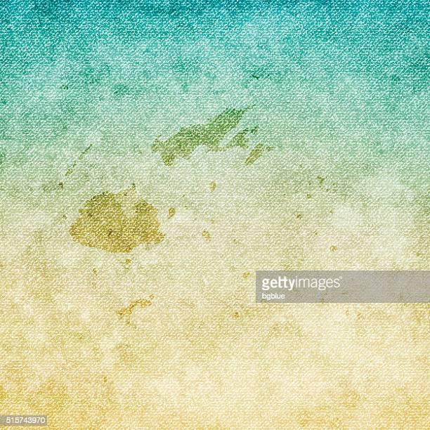 Fiji Map on grunge Canvas Background