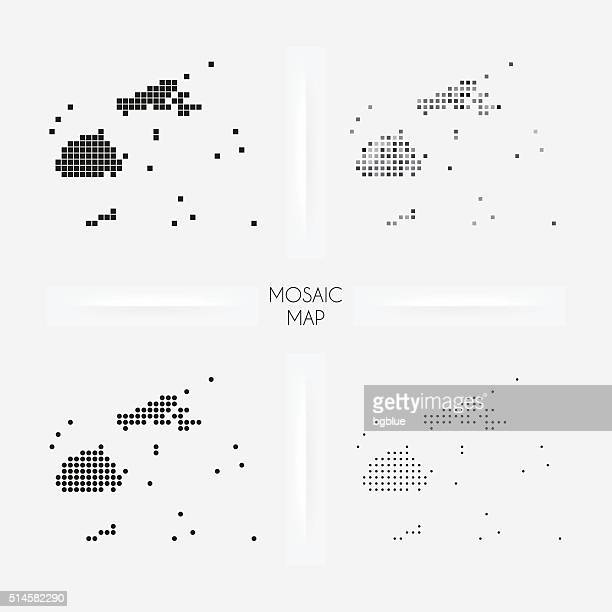 Fiji maps - Mosaic squarred and dotted