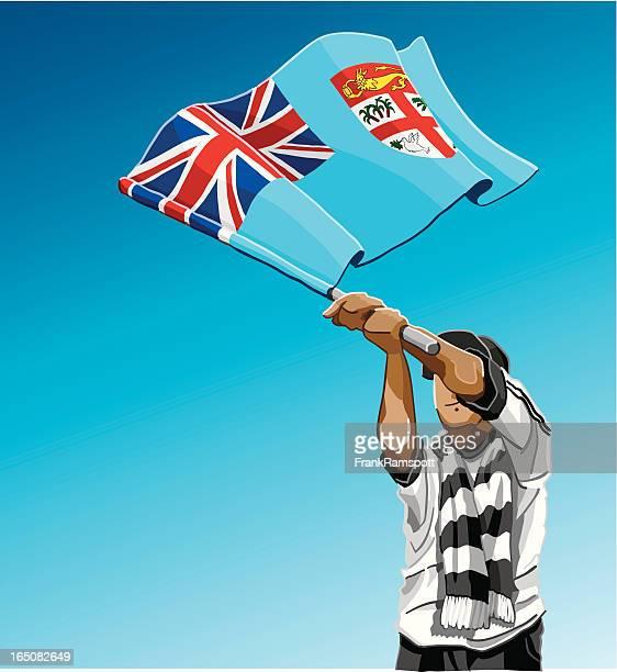 Fiji Waving Flag Soccer Fan
