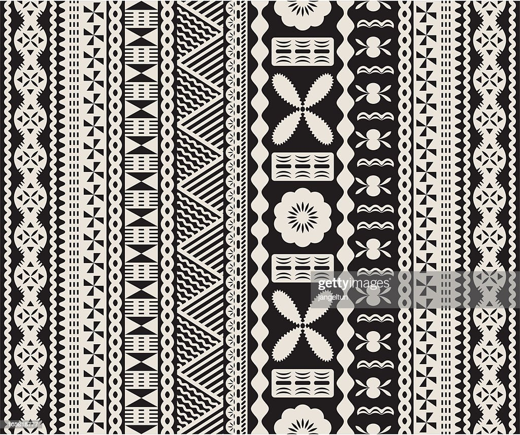 Fijian tapa pattern.
