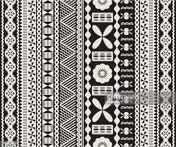 fijian tapa pattern. - indigenous culture stock illustrations
