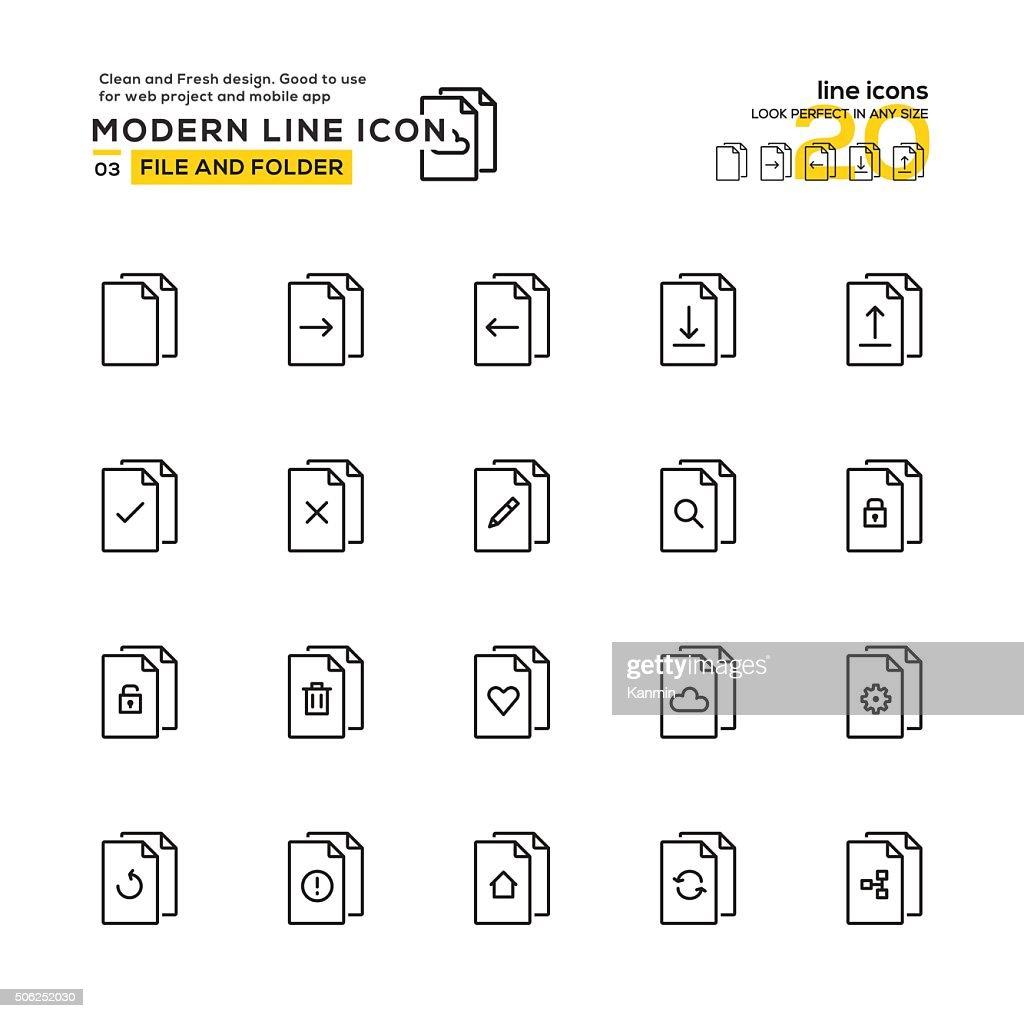 File and Folder icon set