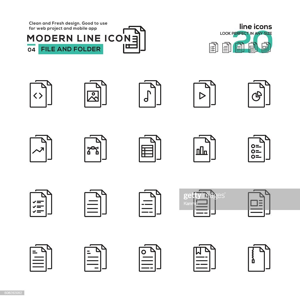 File and Folder icon set