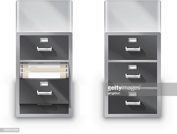 file cabinet - filing cabinet stock illustrations, clip art, cartoons, & icons